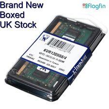 4GB DDR3 LAPTOP MEMORY - KINGSTON - PC3-10600 1333MHz