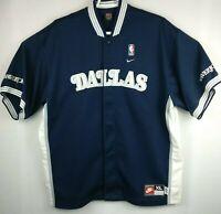 Mens Nike  Dallas Mavericks Warm Up Jersey XLarge Blue Shooting Shirt Button up