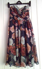 BNWOT - LADIES LOVELY BLACK & YELLOW FLOWERY CORSET DRESS (ASOS) SIZE 10