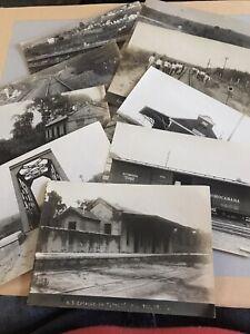 Rare 1918 Real Photos Of The Sao Paulo Railway /Sorocaba Railway Brazil