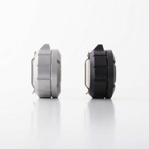 NEW DANGO CAPSULE WIDE - Satin Silver & Jet Black