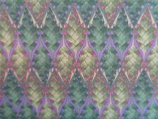 Liberty cotton 100%, 'Marc Gosling' Green, (1.00m x 1.40m piece), dress fabric