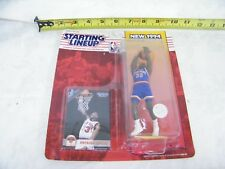 Vintage Starting Line Up New York Knicks Patrick Ewing Card and Bobble Head 1994