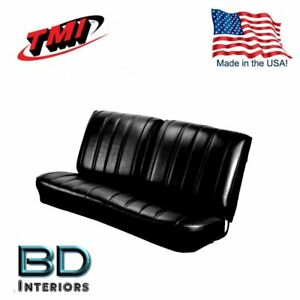 1966 Chevy Chevelle & El Camino Split Front Bench Seat Upholstery Black by TMI