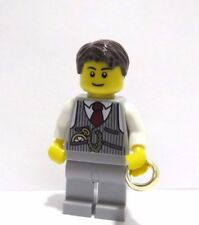 Lego Minifigure Figure  Groom Grey Suit Gold Wedding Ring Best Man Usher
