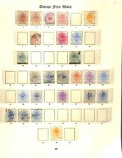 [OP3955] Orange Free State lot of stamps on 3 pages