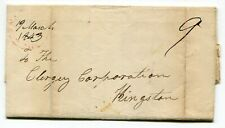 Canada ONT Ontario - Oznabruck UC 1843 Split Ring - Stampless Cover / Letter