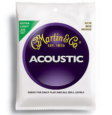 Martin M170 .010 - .047 Extra Light Acoustic Guitar Strings  Light Gauge