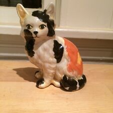 Vintage Retro Ceramic Handpainted CALICO CAT Kitten Figurine 1982