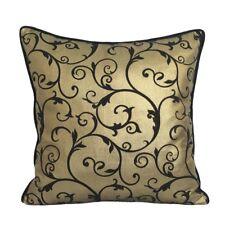 "Satin/Lame Spiral 18""x18"" Gold/Black Home Decor/Throw Pillow Case/Cushion Cover"