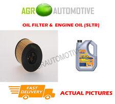 Diesel Filtro De Aceite + ll 5W30 del aceite del motor para Peugeot RCZ 2.0 163 BHP 2010 -