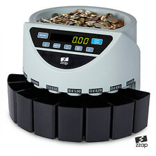 ELECTRONIC MONEY COIN CASH CURRENCY COUNTER COUNTING SORTER MACHINE GBP UK GREY