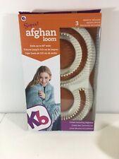 "Kb Super Afghan Loom Knitting Board kit, 11x19"""