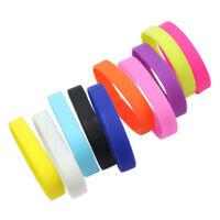 10pcs Wrist Band Silicone Rubber Elasticity Wristband Cuff Bracelet Sport Top S