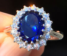 4 ct Stunning Sapphire Ring Swiss Corundum With Extra Brilliant Czs Size 4