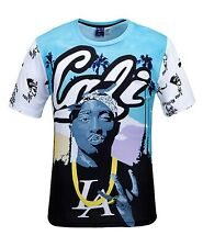 Tupac Cali T-Shirt ( 2pac urban streetwear fresh dope print printed rapper tee )