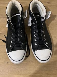 Size 12 Mens Black/White Leather Converse