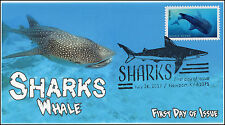 17-193, 2017, Sharks, Whale, Pictorial Postmark, FDC