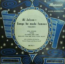 "Al Jolson(7"" Vinyl)Songs He Made Famous-Brunswick-OE 9011-UK-VG/Ex"