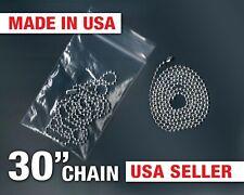 "Ball Chain 30"" Bead Necklace Dog Tag Genuine Military USA Army Navy Ballchain"