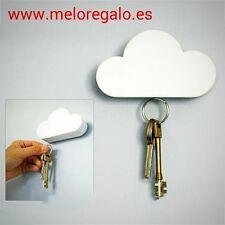 Portallaves magnético con forma de nube blanca,para tener tus llaves ordenadas