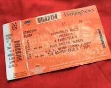 Rammstein Used Concert Ticket Manchester Arena 2010 Tour