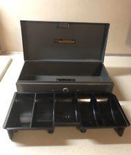 "Vintage 10"" Metal Steelmaster Office Box W/ Coin Drawer Art Steel Co No Key USA"