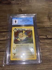 CGC 9 MINT Dark Raichu 83/82 Team Rocket Holo Secret Rare Pokémon Card