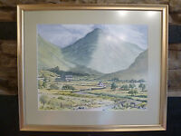 WATERCOLOUR PAINTING Scottish Highlands/Pennines Veduta ER Gibson ART 1996