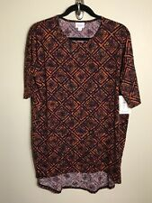 3112 NWT LuLaRoe IRMA TUNIC Shirt S SM SMALL Orange Black Aztec Diamond Purple
