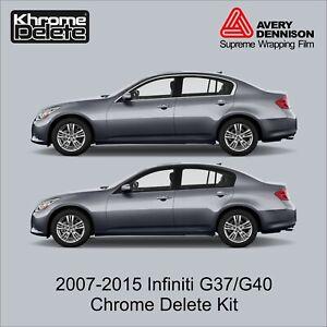 Chrome Delete Wrap fitting 2007- 2015 Infiniti G37/G40 Sedan