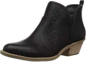 Report - Womens Davidson Ankle Booties Boots - BLACK - Size 10 NEW