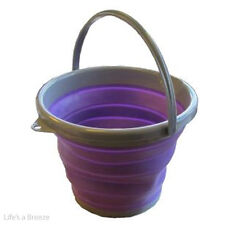 Pop Up Bucket. Purple for Camping Caravans & Motorhomes