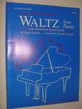 Gounod Waltz From Faust 2 Folios 2 pianos 8 hands arr de Vilback 1990