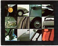 Citroen ID 19 Saloon 1967-68 UK Market Sales Brochure Luxe Confort DS