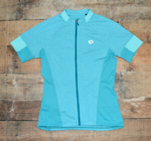 Womens PEARL IZUMI SELECT Teal Green Full Zip Short Sleeve Cycling Jersey Size S