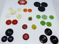 Lot of (27) Antique Carved Celluloid Buttons (37g)