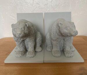 Rare Abigail Ahern Edition Polar Bear Bookends (pair)