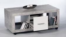 Greystone Storage Coffee Table Grey and White Gloss Lounge Furniture 2701