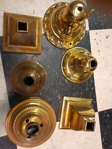 6 Brass Chandelier Canopies