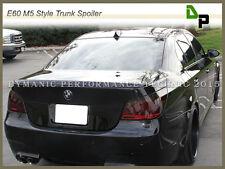 #668 Jet Black M5 Style Trunk Spoiler For BMW E60 528i 535i 550i Sedan 2004-2010