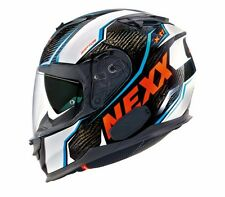 NEXX X.T1 Raptor White Orange MEDIUM XT1 Carbon Motorcycle Helmet M -(CLOSEOUT)-