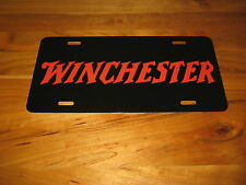 Winchester License Plate - Black/Red
