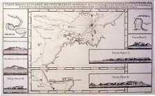 Antique map, Carte reduite d'une partie des cotes des isles Australes