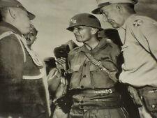 Rare Historical Orig VTG WW2 1945 Generals pre Meet of Gen MacArthur Tokyo Photo