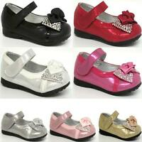 GIRLS PARTY SHOES BABIES INFANTS WEDDING BRIDESMAID BABY SHOES SIZE 3 4 5 6 7