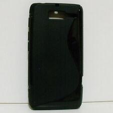 For Motorola RAZR D3 XT919 XT920 (Black S-Line) TPU Gel Phone Case