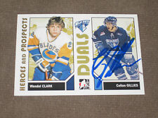 COLTON GILLIES AUTOGRAPHED 2007-2008 ITG HEROES AND PROSPECTS CARD