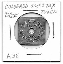 Colorado Sales Tax Token 1/5 Cent A-35