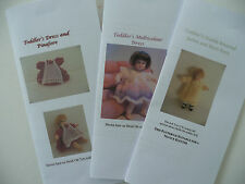 Knitting Patterns for 1:12 scale 2.75 inch dollhouse toddler doll - SET 3